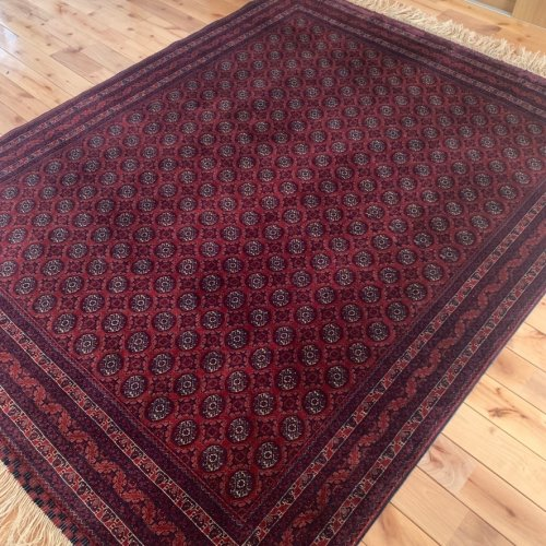 艶々 上質の柔らかさ アフガン最高級絨毯ホジャロシュナイ 緻密な8.5ノット!