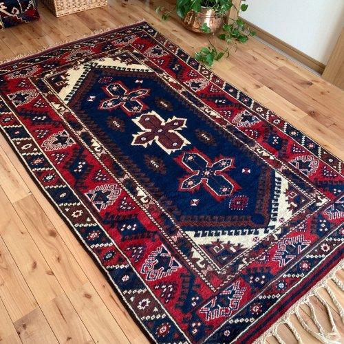 オールド絨毯 地中海アンタルヤ ドシェメアルトゥ 手紡ぎ 198x124