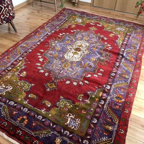 オールド絨毯 綺麗なカラプナル 219x140