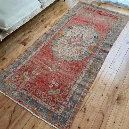 BOHO ヴィンテージ トルコ絨毯 189x87