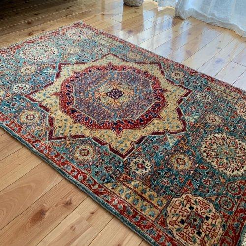 マムルーク絨毯 122x84cm