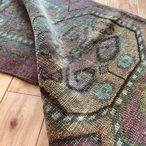 BOHO ヴィンテージ トルコ絨毯 ヤストゥック 95x43
