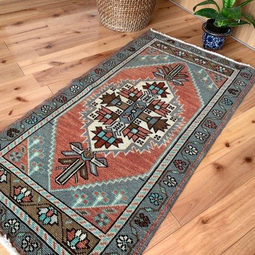 BOHO ヴィンテージ トルコ絨毯 ヤストゥック 97x52