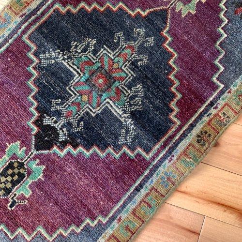 (ご予約品)BOHO ヴィンテージ トルコ絨毯 ヤストゥック 97x47