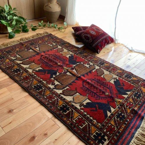 アフガンラグ ベルジェステ / ムシュワニ 混合織りキリム 150x87