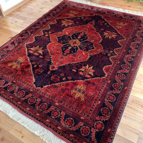 アフガン絨毯 美しく細密なビリジック 193x152