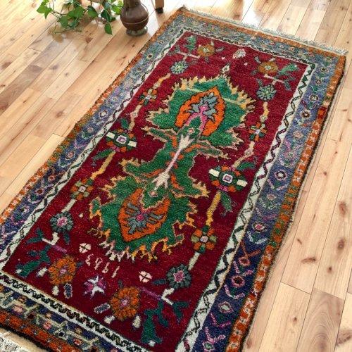 オールド絨毯 素敵なチャル 1963  159x89