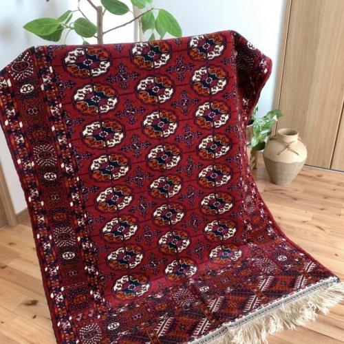 オールド絨毯 トルクメン ブハラ 185x118