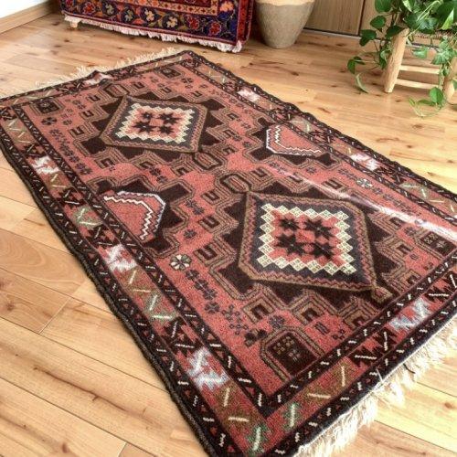 オールド絨毯 可愛いバルーチ 139x84