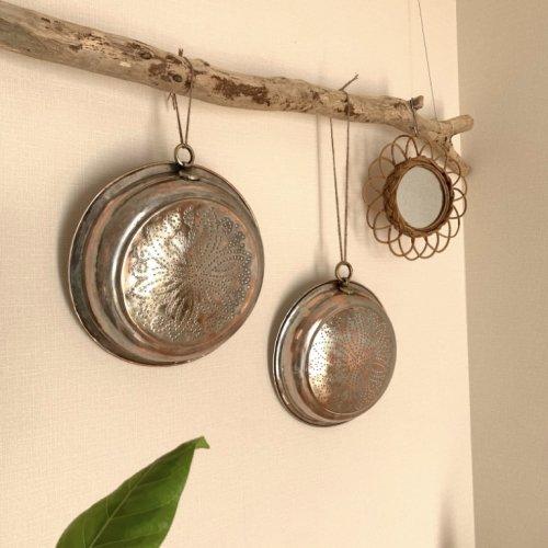 ハンドメイド 古道具 銅ザル