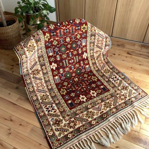オールド絨毯 アンティークコレクション 草木染 138x91