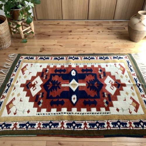 オールド絨毯 アンティークコレクション 草木染 132x94