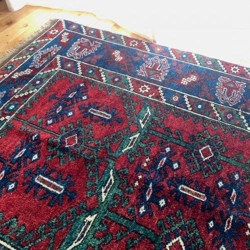 オールド絨毯 地中海アンタルヤ ドシェメアルトゥ 草木染 手紡ぎ 172x137