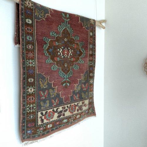 BOHO ヴィンテージ トルコ絨毯 143x84