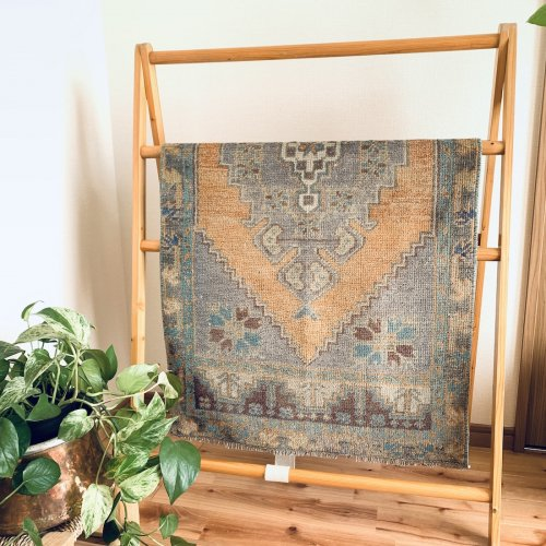 BOHO ヴィンテージ トルコ絨毯 129x65