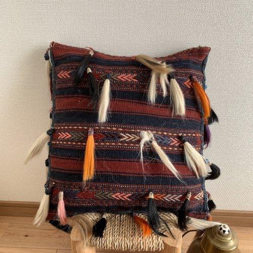 キリムクッション 遊牧民の必需品 へイベ ベルガマ コザック