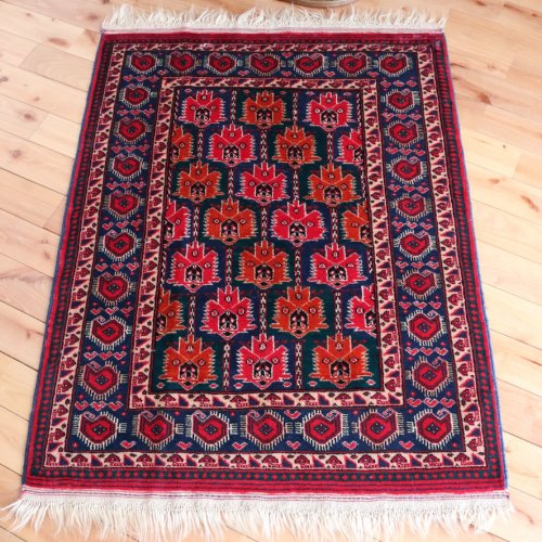 オールド絨毯 トルクメン ブハラ 117x87