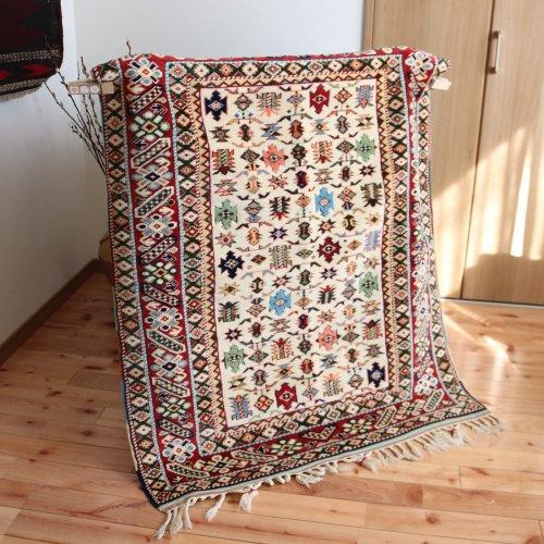 オールド絨毯 アンティークコレクション 草木染 129x104