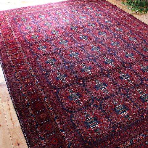 アフガン絨毯 しっとりとした肌触りと上品な艶 ビリジック 290x211