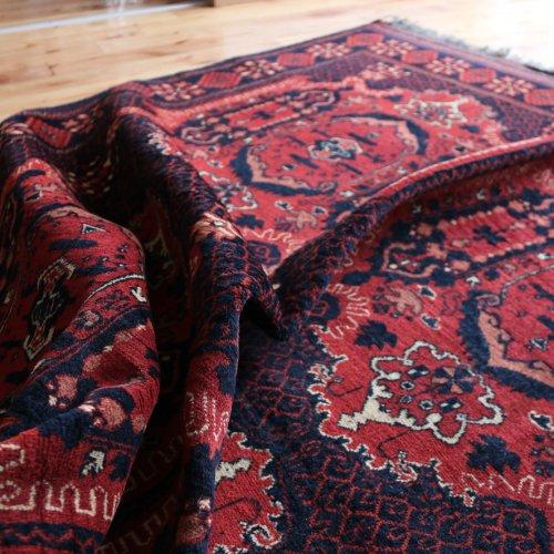 アフガン絨毯 シックな カールモハンマディ 203x156