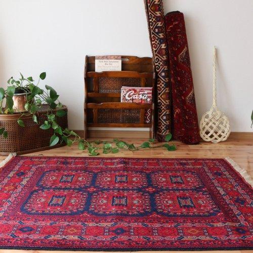 アフガン絨毯 魅力のビリジック 140x102