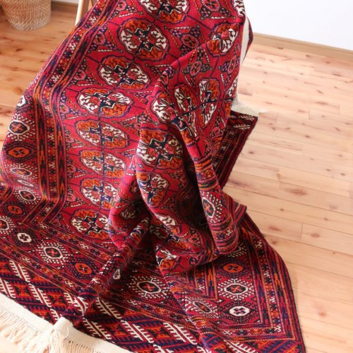 良いお色のブハラ絨毯 トルクメン  192x139
