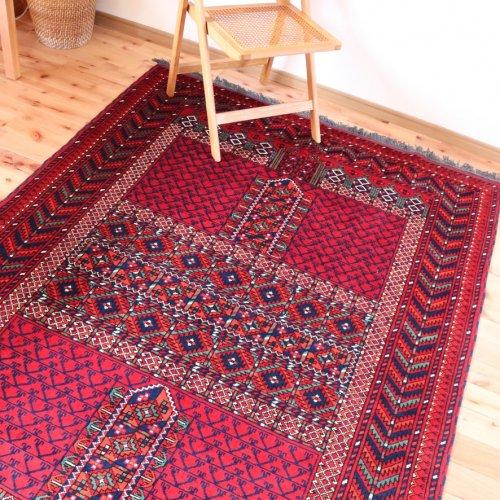 (ご予約品)アフガン絨毯 上品なクンドゥズ エンシデザイン 227x154
