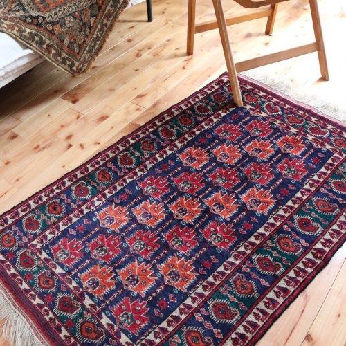 オールド絨毯 トルクメン ブハラ 129x82