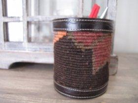 オールドキリム 筒型ペン立て カルスキリム