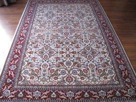 <<ご予約品>>最高級ヘレケ絨毯 シュメル OZEL ポロネーズ オフホワイト