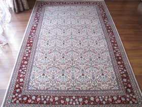 最高級ヘレケ絨毯 シュメル SUPER クルチチェイ オフホワイト
