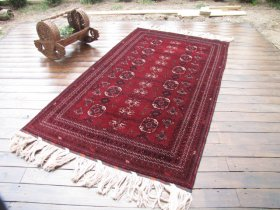 ヴィンテージ絨毯 アフガン 美しいクンドゥズ 約110x190cm