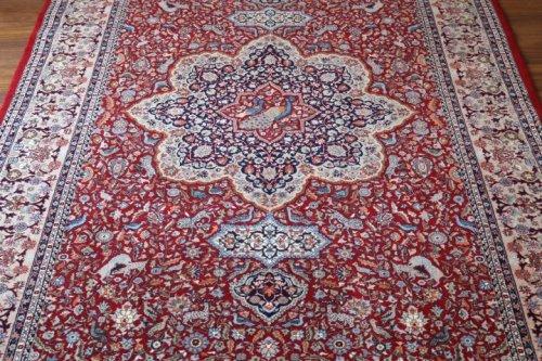 最高級ヘレケ絨毯 シュメル Super 孔雀 303x199cm