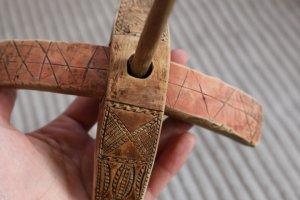 手紡ぎの古道具【キルマン】スピンドル no.8