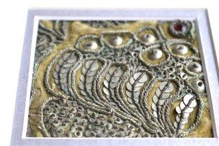 オスマン帝国時代刺繍 19世紀アンティーク衣装の額装