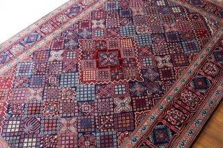 オールド ペルシャ絨毯 シラーズ 約211x137cm