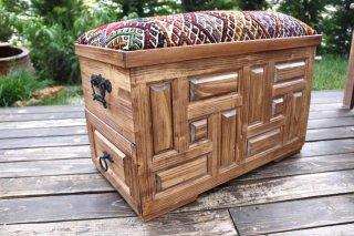 キリム家具 サンドゥク 木箱兼スツール #8