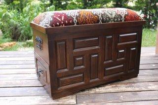 キリム家具 サンドゥク 木箱兼スツール #9