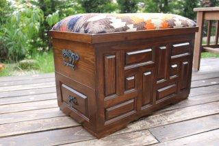 キリム家具 サンドゥク 木箱兼スツール #10