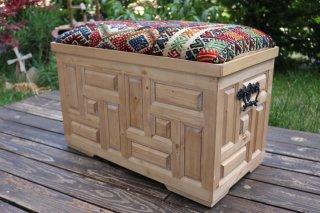 キリム家具 サンドゥク 木箱兼スツール #14