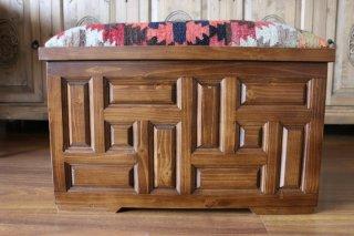 キリム家具 サンドゥク 木箱兼スツール #19