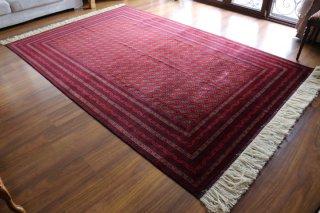 アフガン最高級絨毯ホジャロシュナイ 約307x200cm