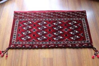 オールド   トルクメン 絨毯キリム チュワル 約131x70cm
