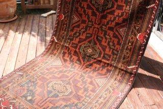 オールド絨毯 バルーチ族 約200x103cm