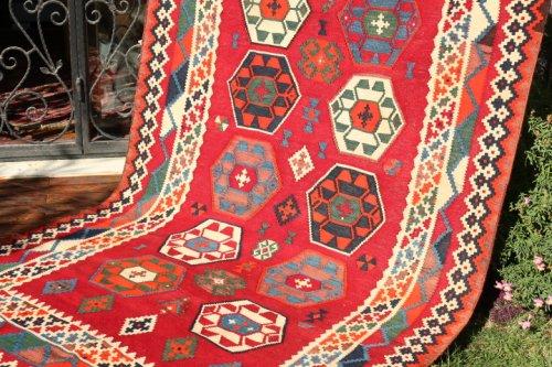 オールド〜セミアンティーク キリム 可愛いシラーズ / カシュカイ族 約286x156cm