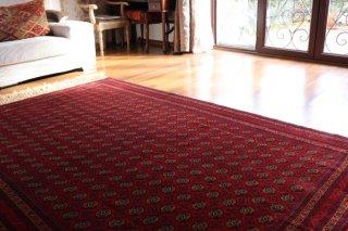 アフガン最高級絨毯 ホジャロシュナイ 約239x162cm レアサイズ4平米+最大9ノット