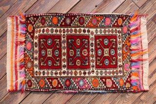 オールド絨毯 ヤストゥック 袋状 ユントダー コレクション  91x48cm