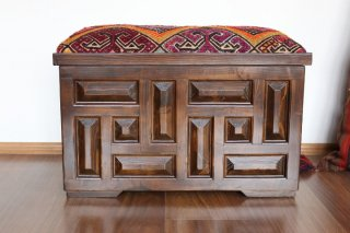 キリム家具 サンドゥク 収納木箱スツール #20