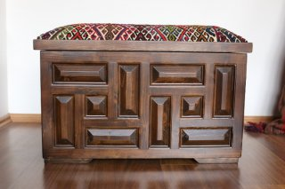 キリム家具 サンドゥク 収納木箱スツール #21