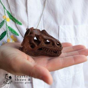 アロサウルス頭骨ペンダント【受注製作品】